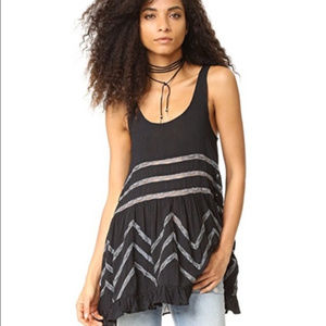 Free People-Intimately Free lace trapeze tunic